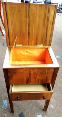 Sewing box table