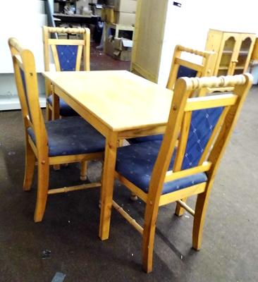 Small dining table (27 x 42 inches) & 4 chairs