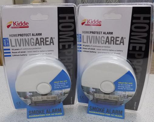Two brand new, sealed smoke alarms