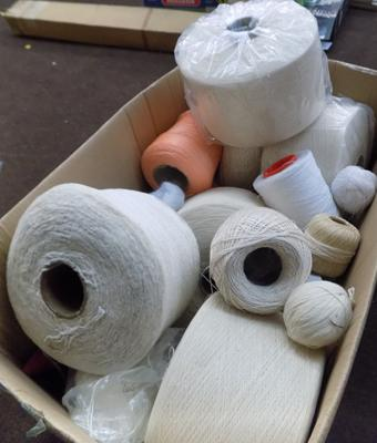 Large box of yarn