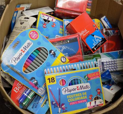 Large box of Papermate pens etc...