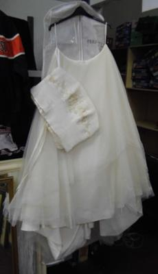 Ivory coloured wedding dress