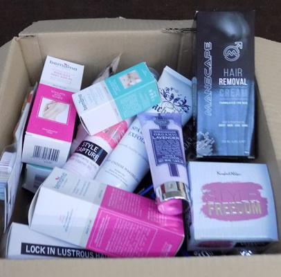 Large box of toiletries etc... - all brand new