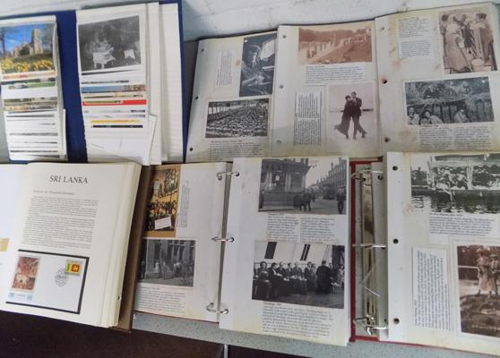 4 albums containing quantity of postcards, photos, early social history etc...