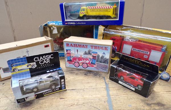 2x Tin toys with other model vehicles
