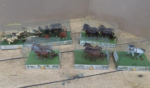 5x Brumm Victorian carriages - all boxed