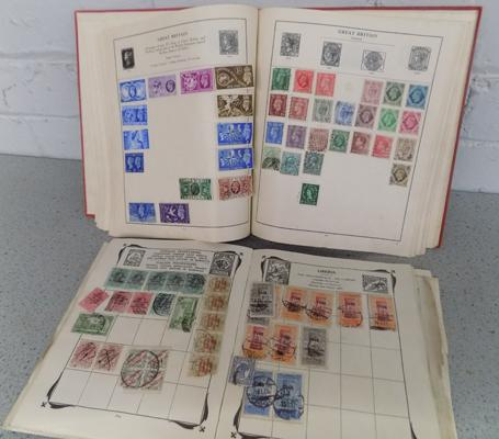 Two old stamp albums with early 20th century