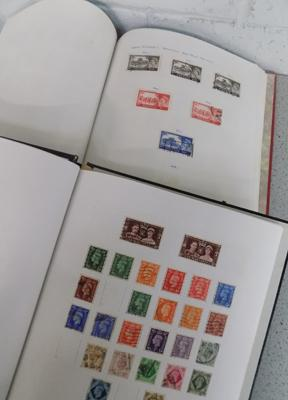 Two GB stamp albums with Victoria to Queen Elizabeth II