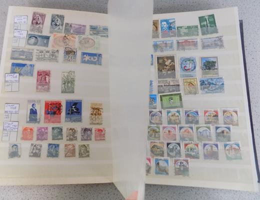 European collection of approx. 2000 stamps in 64 side stock book, no apparent duplication