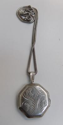 Silver locket on silver chain - both stamped 925