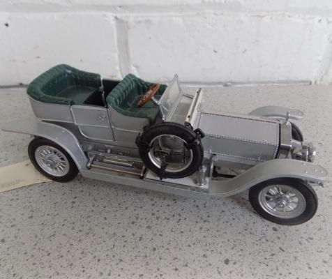 Franklin Mint 1907, Rolls Royce Silver Ghost with tag