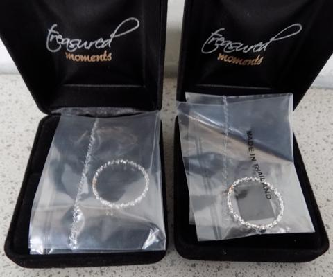 Two brand new sterling silver diamond rings