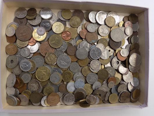 Large selection of foreign coins