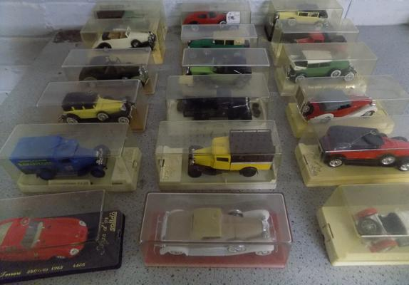 Large collection of Solido display cars