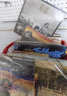 Over 60 records, incl. Rush, Hawkwind, Wings, Fairport, Bowie,Prince, Wilko Johnson