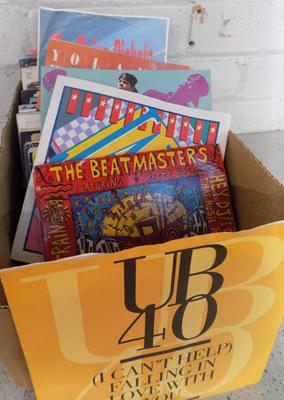 Box of picture sleeve singles