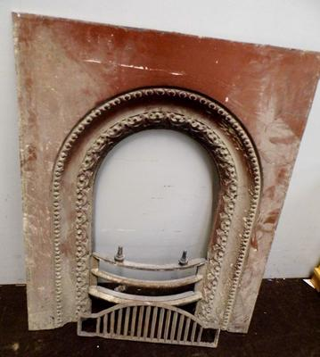 Cast iron fireplace - approx. 30 x 57 inches