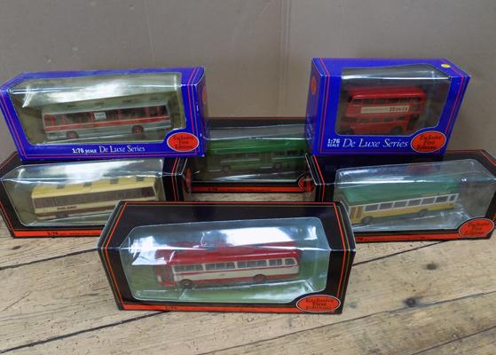 6x Exclusive first edition buses - all boxed