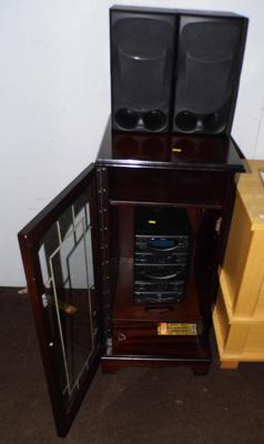 Goodmans micro stereo system, speakers and cabinet W/O