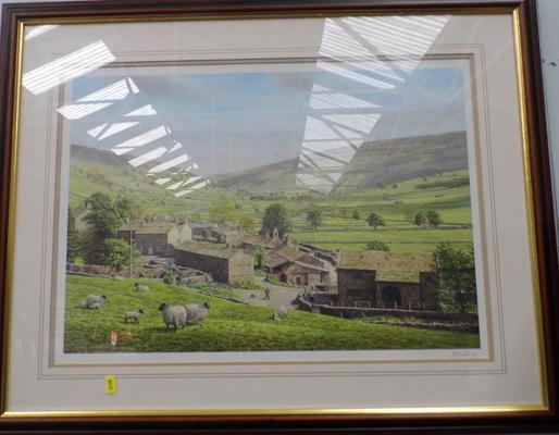 Framed picture of Littondale