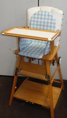 Vintage childs high/ low chair/ table