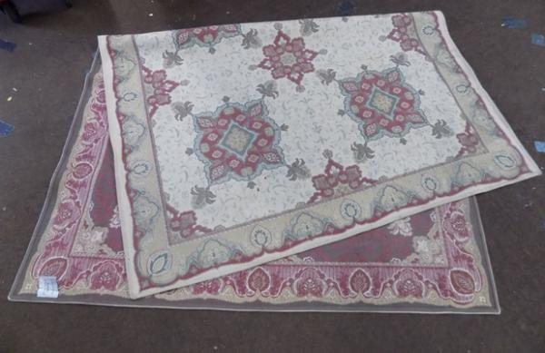Large Laura Ashley Angelina rug, good condition - approx. 64 x 94 inches