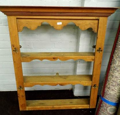 Old pine wall plate/cup rack