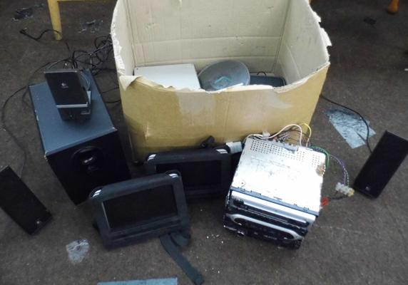 Box of miscellaneous electrical devices