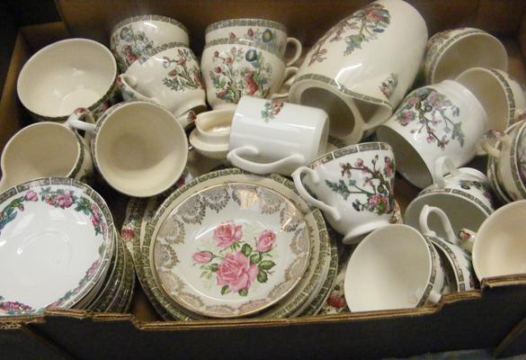 Cups and saucers - job lot