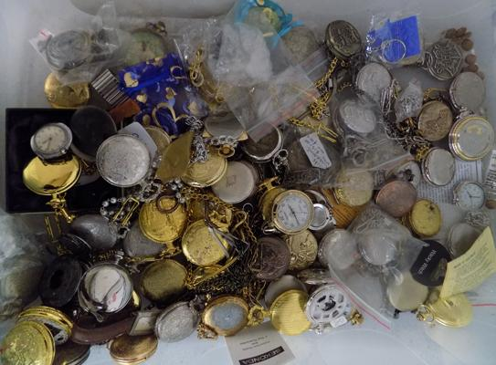 Large collection of pocket watches