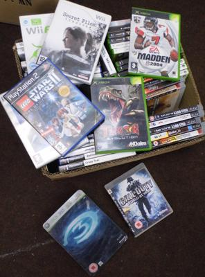 Large selection of mainly PS2 games, some PS3 + XBox 360 & Wii