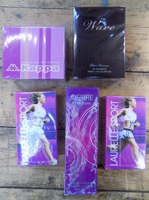 Collection of perfumes x 5 - sealed, unused
