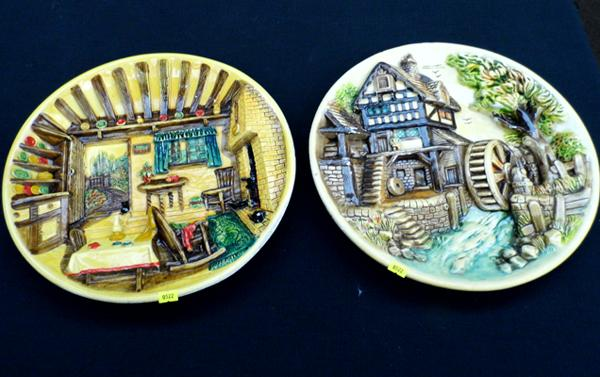 Two 3D moulded plates/ plaques