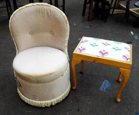 Bedroom chair & dressing table stool
