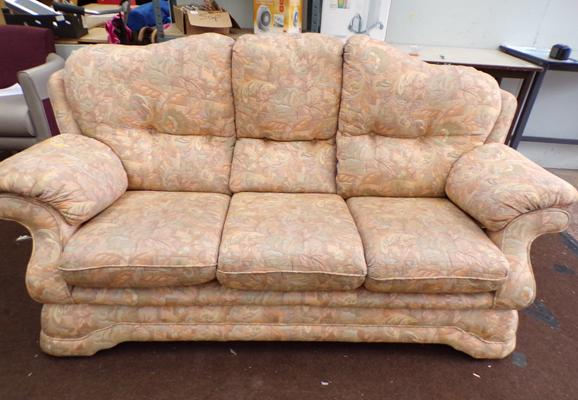 Tapestry style 3 seater sofa