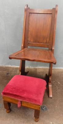 Victorian chair + footstool