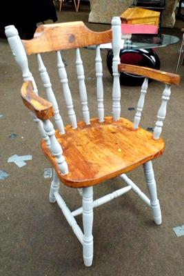 Painted pine chair