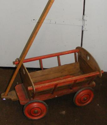 Vintage childs toy cart