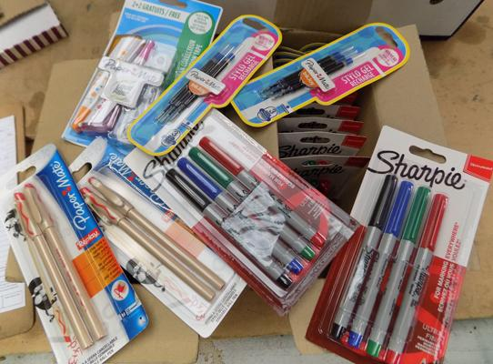 2 boxes of assorted Sharpy pens