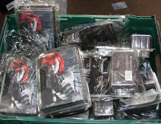 Box of new Ammoclip charging stations for PS3