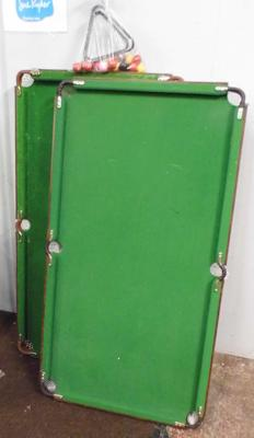 Two snooker tables & one set of balls