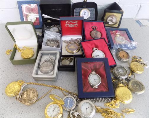 Large collection of pocket watches, incl. Sekonda watch