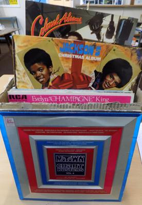 Large box of Soul/Funk LP records