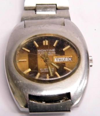 Rare vintage Swiss automatic day date, gents wristwatch
