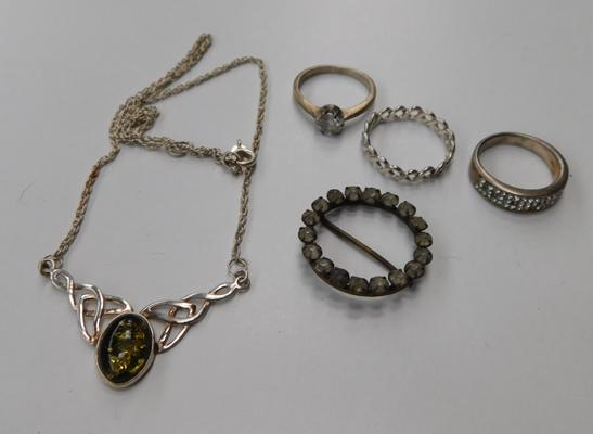 Assortment of silver jewellery-some marked 925