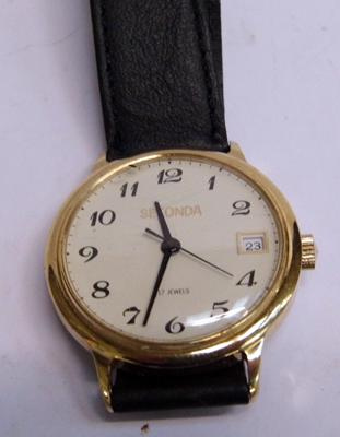 Vintage Sekonda gold plated hand-wind gents wristwatch, 17 jewels
