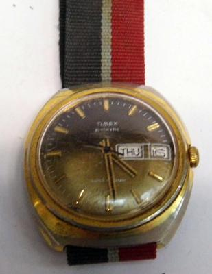 Vintage Timex automatic day date gents wristwatch