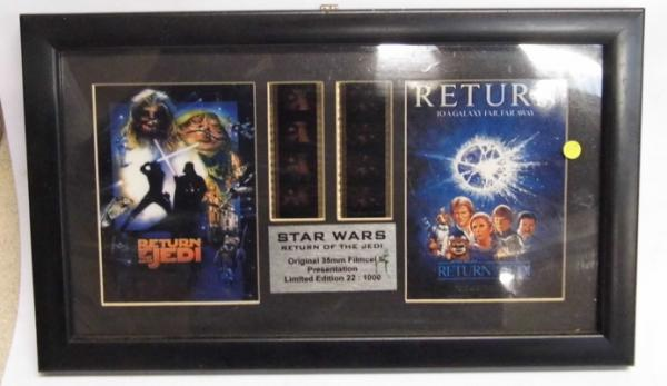 Original Star Wars Return of the Jedi Limited Edition film cell