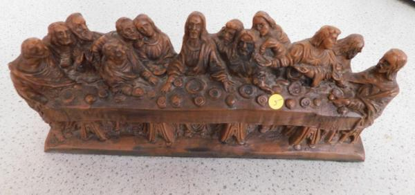 The Last Supper in resin