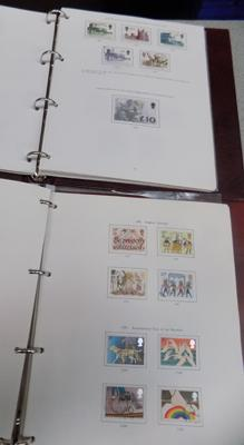 2 x albums of Great Britain stamps